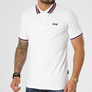 Schott NYC - Polo Manches Courtes Henry Blanc