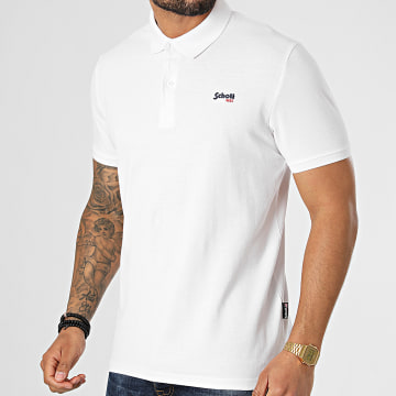 Schott NYC - Polo Manches Courtes PSJAMES2 Blanc