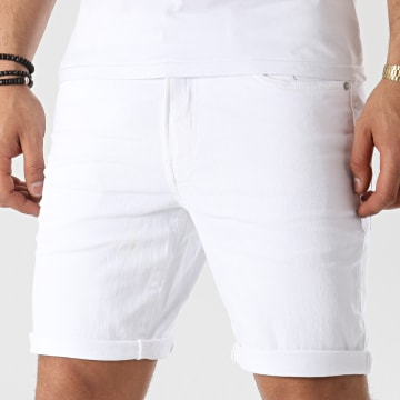 Solid - Short Jean 21104986 Blanc