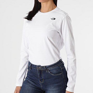 The North Face - Tee Shirt Manches Longues Femme Simple Dome A3RZ6 Blanc