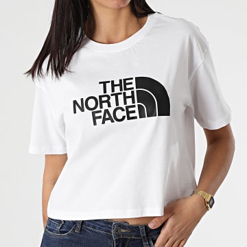 The North Face - Tee Shirt Crop Femme Easy A4T1R Blanc