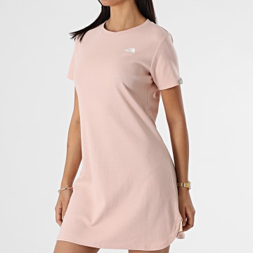 The North Face - Robe Tee Shirt Femme Simple A493T Rose