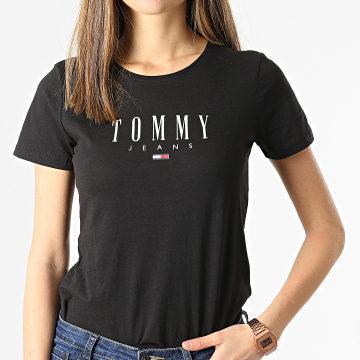 Tommy Jeans - Tee Shirt Femme Essential Skinny 9926 Noir