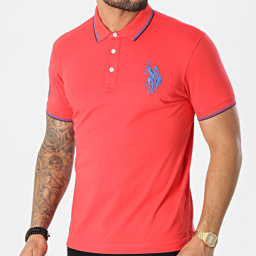 US Polo ASSN - Polo Manches Courtes New N3 Sunwear Rouge