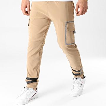 2Y Premium - Pantalon Cargo BRSP5255 Camel Réfléchissant
