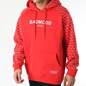 Badmood - Sweat Capuche Repeat Please Rouge