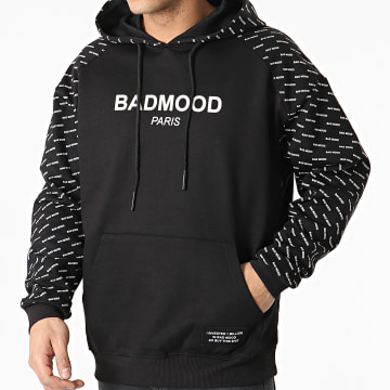 Badmood - Sweat Capuche Repeat Please Noir