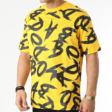 Badmood - Tee Shirt Crazy Time Jaune Noir