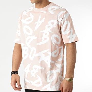 Badmood - Tee Shirt Crazy Time Rose Blanc