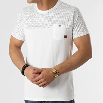 Indicode Jeans - Tee Shirt Poche Foster Blanc