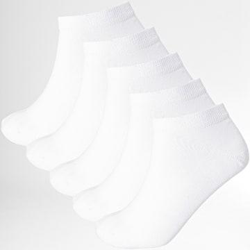 LBO - Lot De 5 Paires De Chaussettes Courtes 0013 Blanc