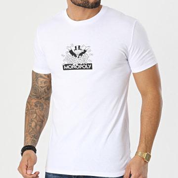 Monopoly - Tee Shirt BW Dollars Blanc