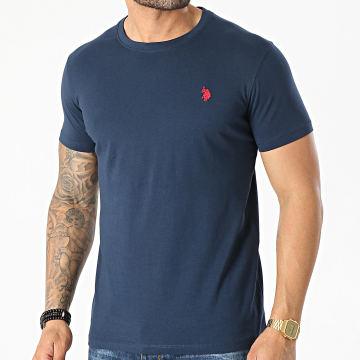 US Polo ASSN - Tee Shirt DBL Horse Logo Bleu Marine