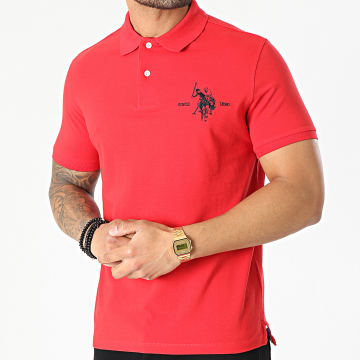 US Polo ASSN - Polo Manches Courtes Collar Rouge