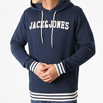 Jack And Jones - Sweat Capuche John Bleu Marine