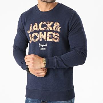 Jack And Jones - Sweat Crewneck Lefo Bleu Marine