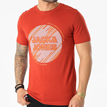 Jack And Jones - Tee Shirt Kopa Rouge Brique