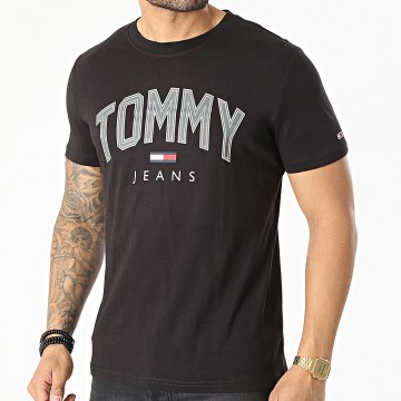 Tommy Jeans - Tee Shirt Shadow Tommy Print 0226 Noir