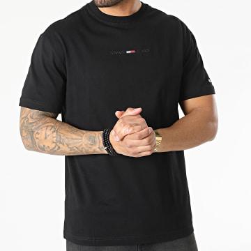 Tommy Jeans - Tee Shirt Gel Linear Logo 0702 Noir