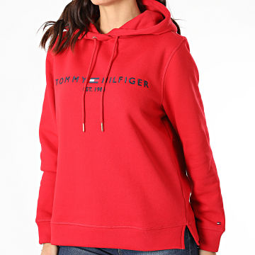 Tommy Hilfiger - Sweat Capuche Femme Essential 6410 Rouge