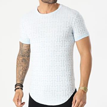 Uniplay - Tee Shirt Oversize UY610 Bleu Ciel