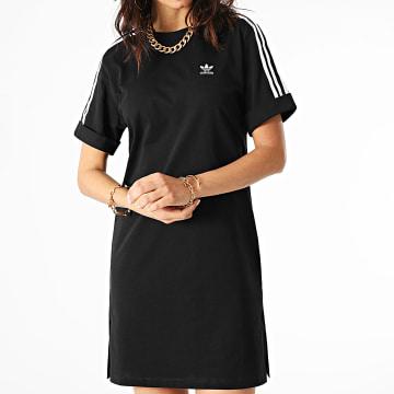 Adidas Originals - Robe Femme A Bandes GN2777 Noir