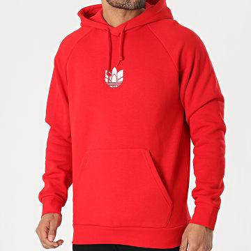 Adidas Originals - Sweat Capuche 3D Trefoil Graphic GN3554 Rouge
