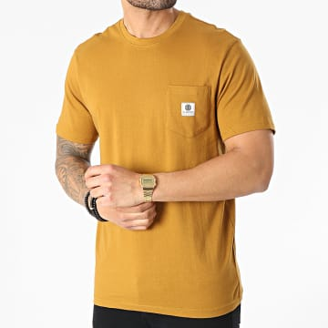 Element - Tee Shirt Poche Basic Pocket Label Camel
