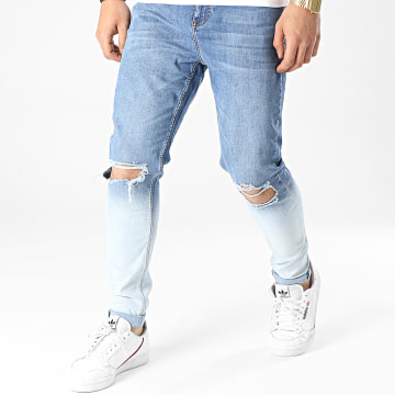 Gianni Kavanagh - Jean Skinny Faded GKM001583 Bleu Denim Bleu Wash Dégradé