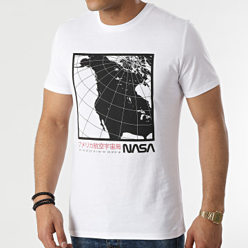 NASA - Tee Shirt Exploring Cube Blanc