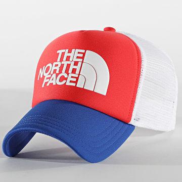 The North Face - Casquette Trucker Logo 3FM3 Rouge Bleu Marine Blanc