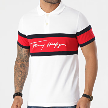 Tommy Hilfiger - Polo Manches Courtes 1985 Signature Colorblock 7801 Blanc