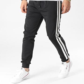 Uniplay - Pantalon Jogging A Bandes UPP50 Noir