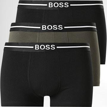 BOSS - Lot De 3 Boxers 50451408 Noir Vert Kaki