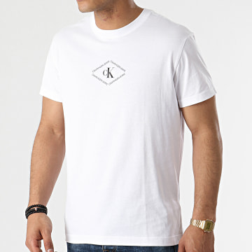 Calvin Klein - Tee Shirt CK Monotriangle 7448 Blanc