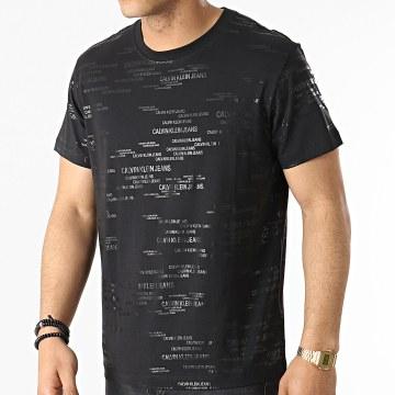 Calvin Klein - Tee Shirt Logo AOP 7503 Noir