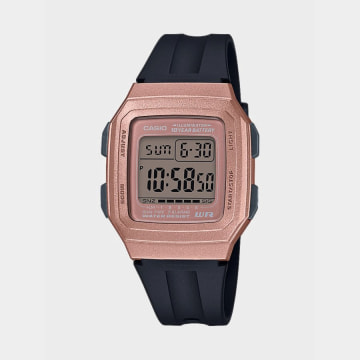 Casio - Montre Femme Collection F-201WAM-7AVEF Noir rose