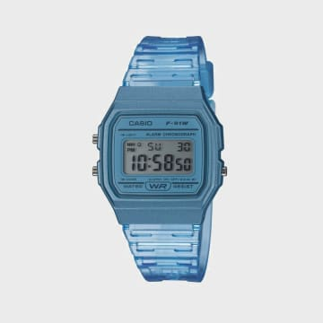 Casio - Montre Collection F-91WS-2EF Bleu