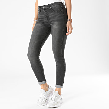 Girls Only - Jean Skinny Femme A1002 Gris Anthracite