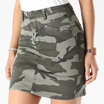 Girls Only - Jupe Jean Femme Camouflage LA622-44 Gris