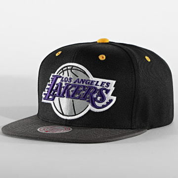 Mitchell and Ness - Casquette Snapback S21HW021 Los Angeles Lakers Noir Réfléchissant