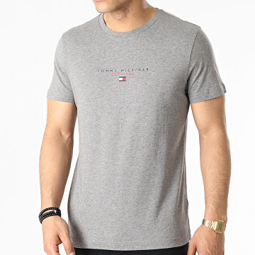 Tommy Hilfiger - Tee Shirt Essential Tommy 7676 Gris Chiné