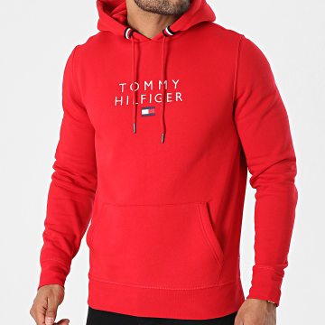 Tommy Hilfiger - Sweat Capuche Stacked Tommy Flag 7397 Rouge