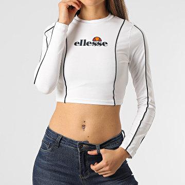 Ellesse - Tee Shirt Crop Femme Manches Longues Russia SGI11062 Blanc