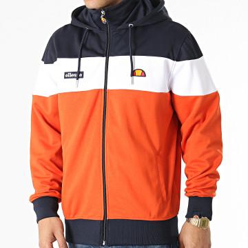 Ellesse - Veste Zippée Capuche Caproni SHI11280 Orange Bleu Marine Blanc