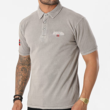 Geographical Norway - Polo Manches Courtes Kars Taupe