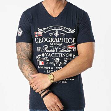 Geographical Norway - Tee Shirt Col V Jemium Bleu Marine