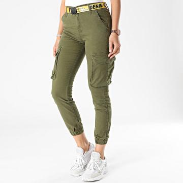 Girls Only - Jogger Pant Femme J818-23A Vert Kaki