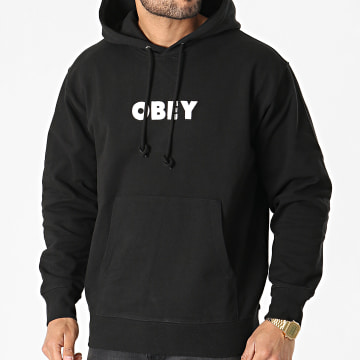 Obey - Sweat Capuche Logo Noir
