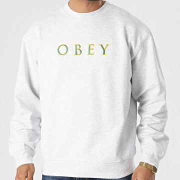 Obey - Sweat Crewneck Nouvelle IV Gris Chiné